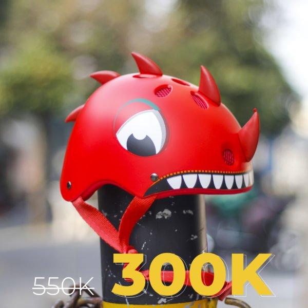 nón khủng long đỏ trẻ em