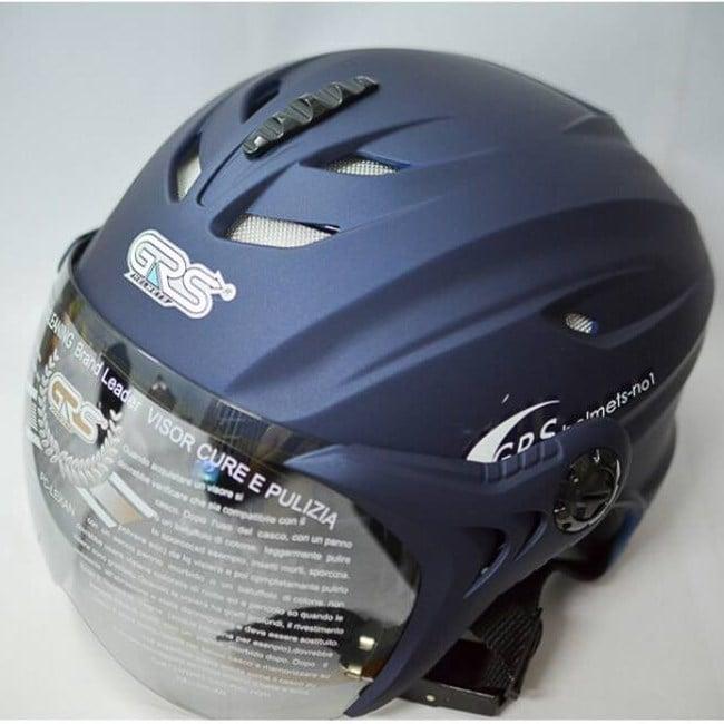mũ grs r1 xanh đen có kính