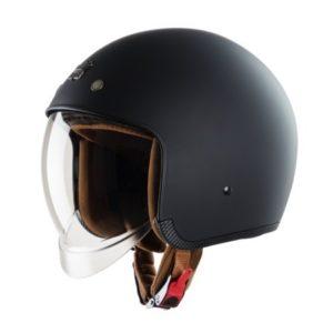 nón bảo hiểm 3/4 kính âm royal m139 đen trơn nhám
