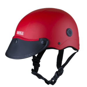 nón bảo hiểm nửa đầu haly rona sơn đỏ