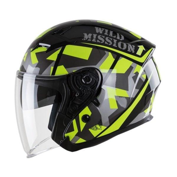 nón mũ bảo hiểm ROC R02 xanh lá