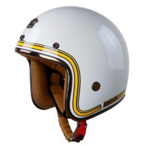 nón bảo hiểm 3/4 royal m20c trắng line vàng