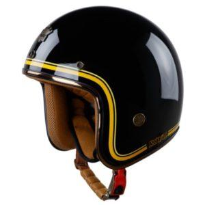 nón bảo hiểm 3/4 royal m20c đen line vàng