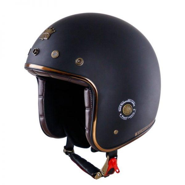 nón mũ bảo hiểm royal m20D đen nhám