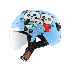 nón bảo hiểm sunda 108SB gấu trúc xanh