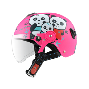 nón bảo hiểm sunda 108SB gấu trúc hồng