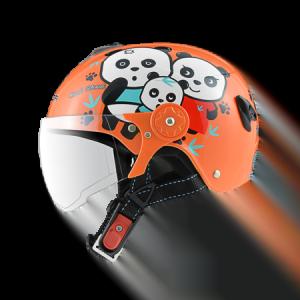 nón bảo hiểm sunda 108SB gấu trúc cam