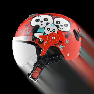 nón bảo hiểm sunda 108SB gấu trúc đỏ