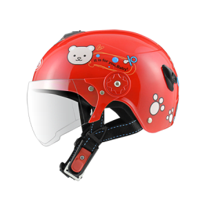 nón bảo hiểm sunda 108SB gấu teddy đỏ