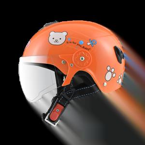 nón bảo hiểm sunda 108SB gấu teddy cam