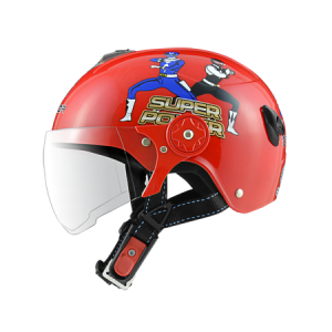 nón bảo hiểm sunda 108SB siêu nhân đỏ