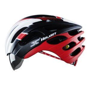 nón xe đạp JC 25 đỏ trắng