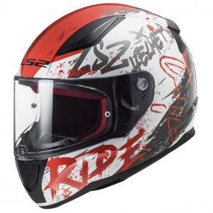 nón bảo hiểm fullface ls2 ff353 rapid circle trắng đỏ